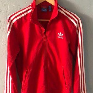 Adidas red stripe jacket